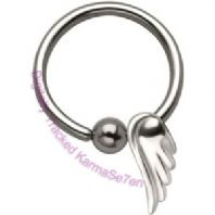 Angel Wing Ball closure Ring